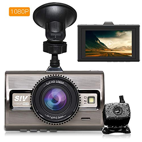 Dual Dash Cam 1080P FHD DVR Car Driving Recorder 3