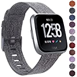 CAVN Fitbit Versa Band Woven for Women Men Replacement Fabric Quick Release Watch