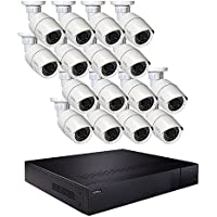 Q-See 32 Channel High Definition 1080p NVR Security System, 3TB Hard Drive, 16 Bullet Cameras 3MP IP QT8616-16Z7-3