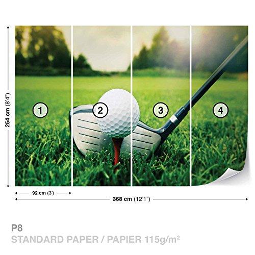 Golf Wall Mural Photo Wallpaper Room Décor (1621WS) - Golf Greens Standard Wall