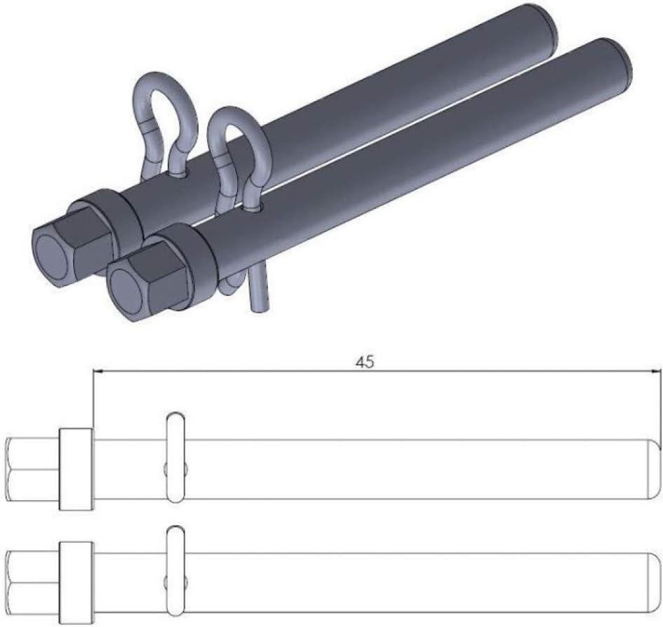 KIT AXES PLAQUETTES DE FREIN ARRIERE-213034 Compatible avec YZF-DIVERSION