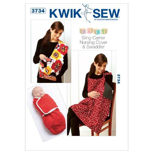 Kwik Sew K3734 Swaddler Sewing Pattern, Sling Carrier and Nursing Cover
