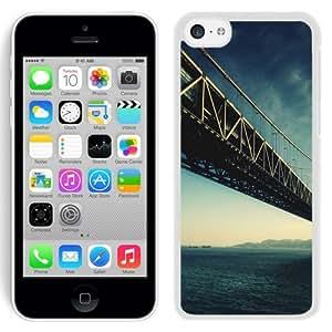 NEW Unique Custom Designed iPhone 5C Phone Case With Steel Bridge Architecture Water_White Phone Case wangjiang maoyi by lolosakes