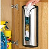 Stainless Steel Carrier Plastic Bag Stor Store Storage Holder Box Kitchen Tidy by SA