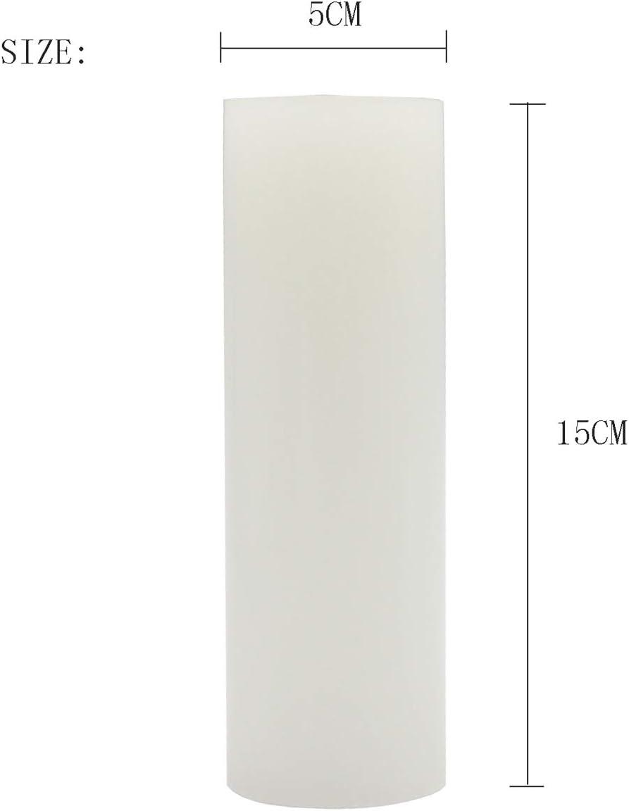 5x7.5cm convient pour les mariages d/écoration de maison /église Longue dur/ée de combustion KuTi Kai Lot de 2 bougies pilier sans fum/ée non parfum/ées avec m/èche en coton spa restaurants rose