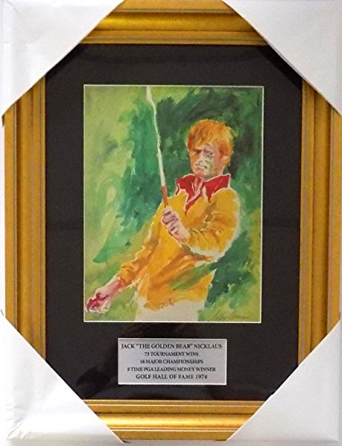 Leroy Neiman Framed Jack Nicklaus 14x19 Golf Print by Sports Integrity