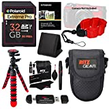 Olympus TG-5 Waterproof Camera with 3-Inch LCD, Red (V104190RU000), Polaroid 32GB Class 10 SD Card, Ritz Gear Tripod, Camera Case and Accessory Bundle