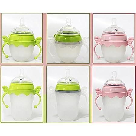 Green Pack of 2 Feeding Bottle Handles for Comotomo Baby Bottle