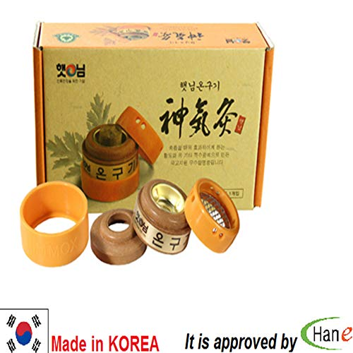 Korea Natural Hait Nim Shinkigoo 1 Hole Mugwort Wormwood Holder Warmer Heater Device with Cones 52PCS (Device)