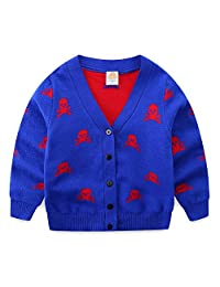 Mud Kingdom Boys Cardigan Sweater Skull