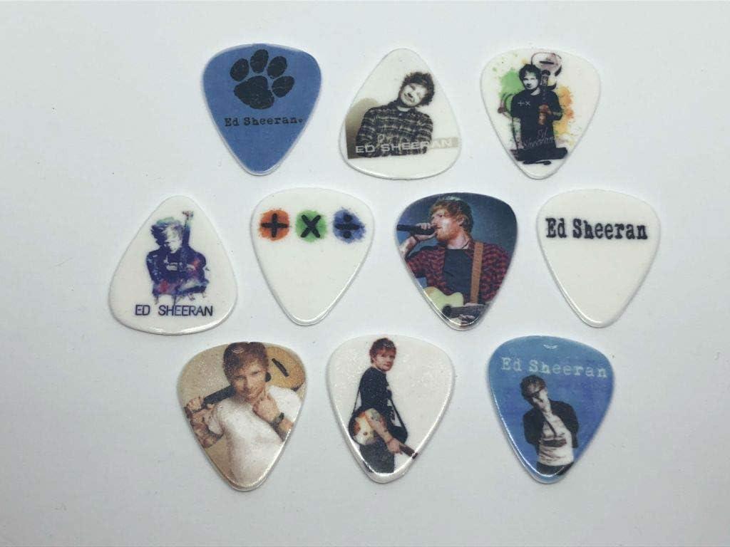 ED SHEERAN Juego de púas para guitarra (10 púas/10 diseños ...