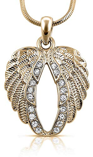 (Guardian Angel Wings Pendant Necklace Jewelry Gifts Girls, Teens and Women (Gold Tone))