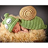 Horoshop Baby Newborn Photography Props Baby Outfits Within 0-3 Months Birthday Party Knit Costume Kit,Cute Snail Style
