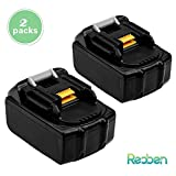 [2 Packs] BL1830 Replace for Makita 18V Battery 3.0Ah Lithium ion BL1850 BL1860 BL1840 BL1815 BL1845 BL1835 LXT400 cordless tools