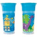 Sassy 9oz Insulated Grow Up Cup 2pk, Blue/Blue, 9 Ounce