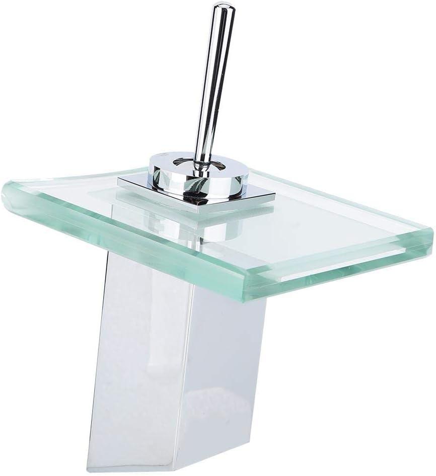 Oumefar Lavabos de baño Grifos mezcladores de caño a Prueba de Herrumbre duraderos para Uso doméstico(9/16)