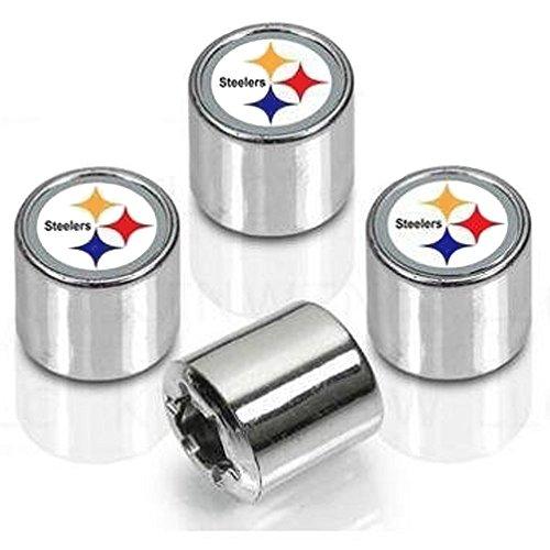 Pittsburgh Steelers Valve Stem Caps 4-Pack from SteelerMania