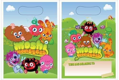 Moshi Monsters 8 Party Loot Bags Style May Differ
