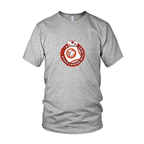 Join BB8 - Herren T-Shirt, Größe: XL, Farbe: grau meliert