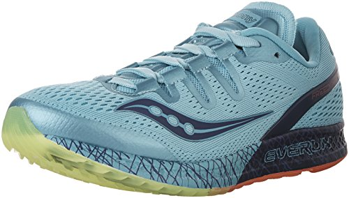 Saucony Womens Freedom ISO Running Shoe Blue/Citron