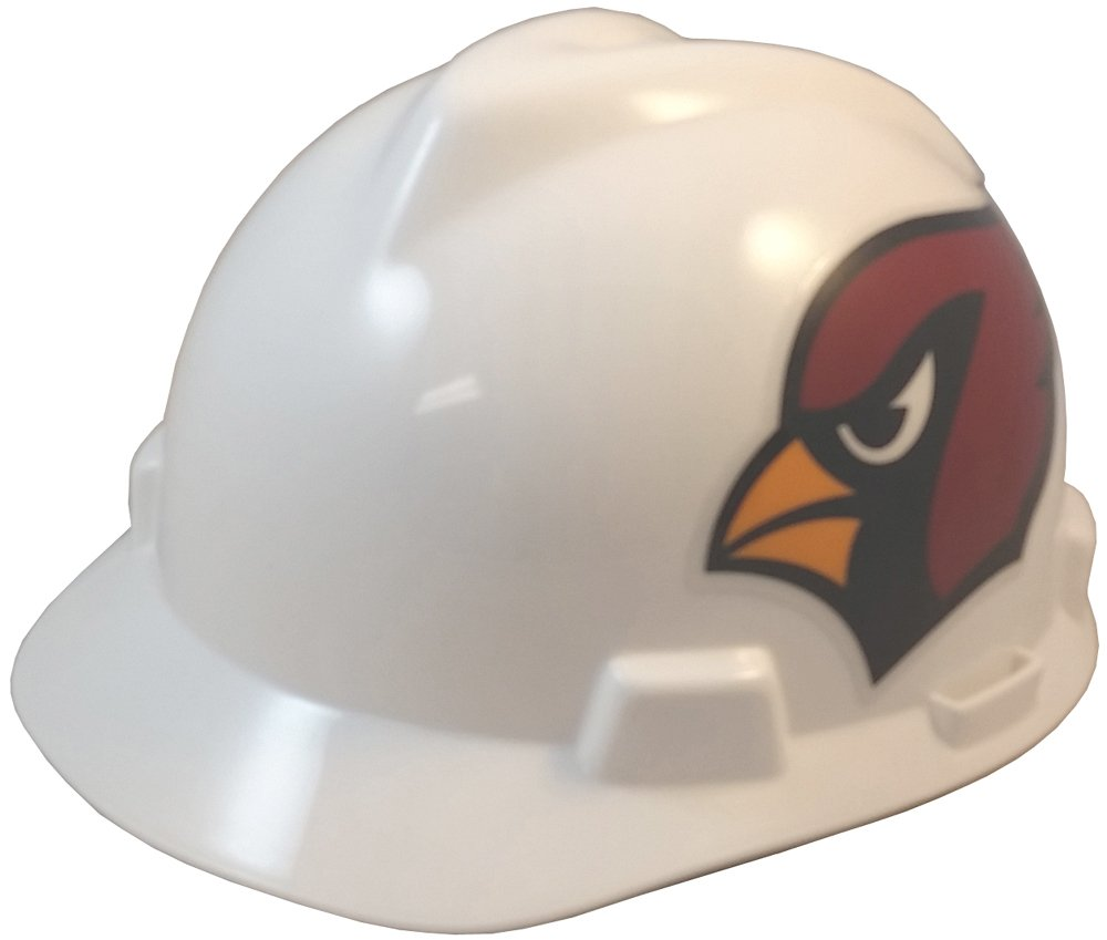 MSA NFL Ratchet Suspension Hardhats - Arizona Cardinals Hard Hats