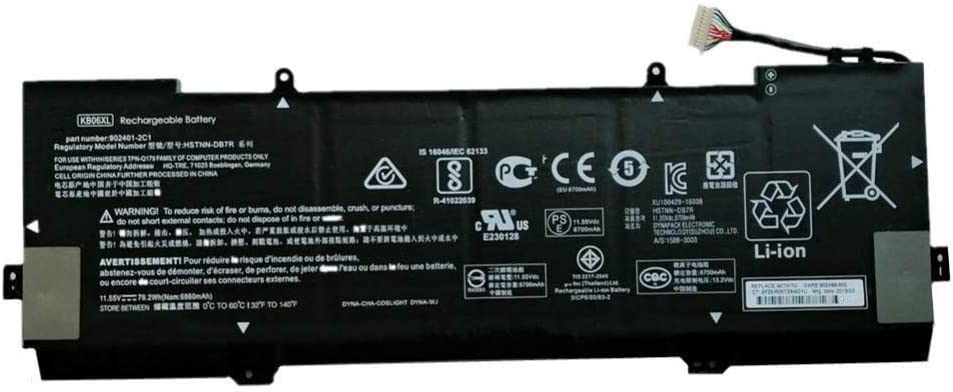 7XINbox 11.55V 79.2Wh KB06XL Replacement Laptop Battery for HP Spectre X360 15-BL002XX 15-BL000NA 15-BL030NG 2PG91EA Z6K96EA Z6K97EA Z6K99EA Z6L00EA Z6L01EA Z6L02EA