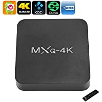 MXQ 4K TV Box - Android 6.0, WiFi, 3D Movie Support, 4K Support, Google Play, Miracast, DLNA, Quad-Core CPU