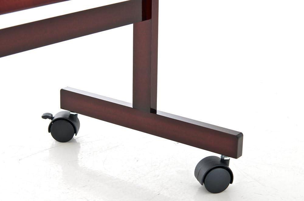 CLP Holz-Standspiegel Yolanda mit Laufrollen I Schlichter Garderobenspiegel aus lackiertem Holz I erh/ältlich Cherry