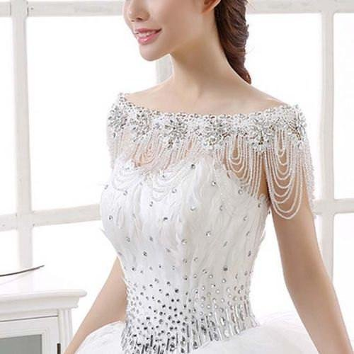 Jewelry for Strapless Wedding Gown