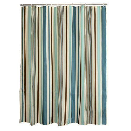 Shower curtain, European style, polyester, waterproof thickening, vertical striped bathroom partition curtain, curtain, window curtain (Size : 180180cm)