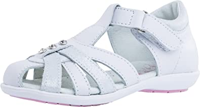 d47034b396c7c Kotofey Girls White Sandals 422049-21 Orthopedic, Leather Summer Sandals  with Arch Support (