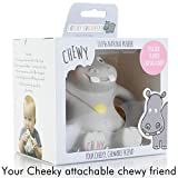 Cheeky Chompers Chewy the Hippo: 100% Natural Rubber Attachable Teether Designed to Avoid Choking Hazards