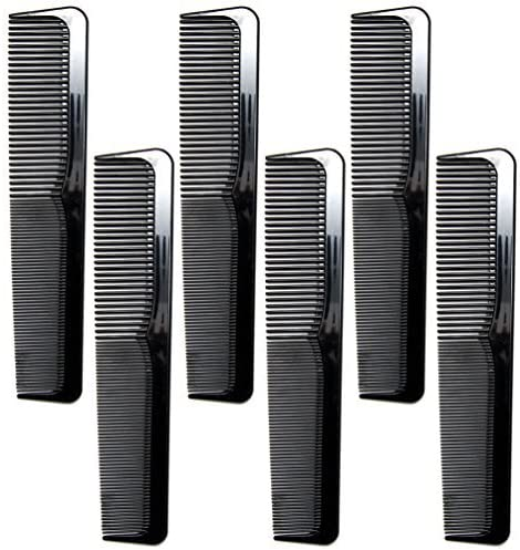 "Luxxii 6 Pack - 9"" Large Breakable Black Dressing Comb Set - Styling Essentials Coarse/Fine [並行輸入品]"