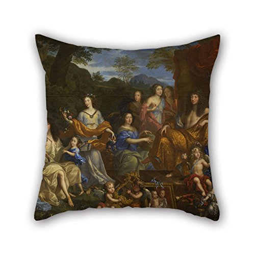 [Slimmingpiggy The Oil Painting Jean Nocret - Louis XIV Et La Famille Royale Cushion Covers Of ,16 X 16 Inches / 40 By 40 Cm Decoration,gift For Dance Room,car,bench,valentine,father,monther (two] (Baby Megamind Costume)