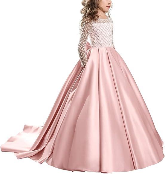 Flower Girls Princess Formal Dress Wedding Bridesmaid Communion Party Prom Gown