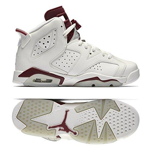 a89bab245d5b8b Galleon - Nike Air Jordan 6 Retro OG BG 836342-115 Off White Maroon Kids  Basketball Shoes (7Y)