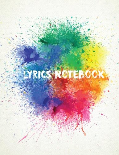 Lyrics Notebook : 8.5 X 11 Music Writing Journal (Large Print) 104 Pages For Musician, Music Lover, Student, Songwriter - Lined/Ruled Paper Journal For Writings Vol.5: Lyrics Notebook