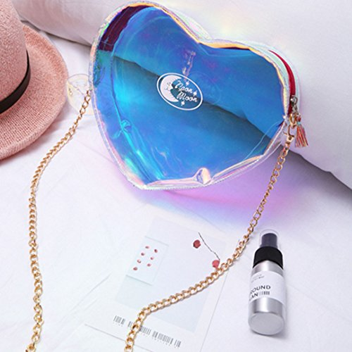 Bag Laser Casual Heart Purple Mily Phone Women Fashionable Crossbody Bag Transparent Shape vf4HgwA