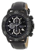 Nautica Men's N20062G NST 500 Black Polyurethane and Black Dial Watch by Nautica