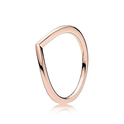 Pandora Women's Ring Shimmering Rose 186316CZ Stacker ebJYMe
