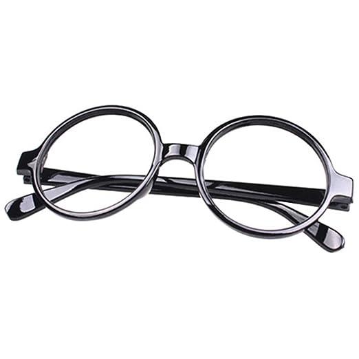 7f6efb7b56 Amazon.com  FancyG Retro Geek Nerd Style Round Shape Glass Frame NO ...