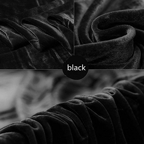 (Velvet Stretch Fabric, Home Decor DIY PHOTO BACKDROP, Wedding Photo Booth,Photography Background (black, 1/2 yard))