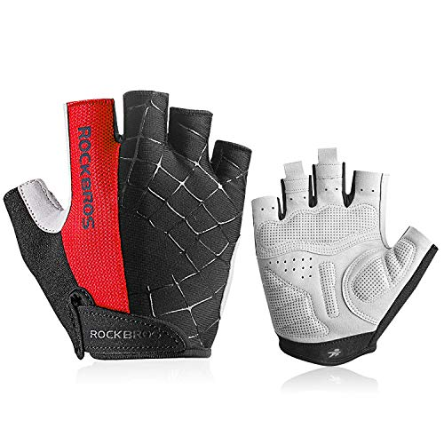 - anqier Bike Gloves,Newest Cycling Bicycle Gloves Men Women Mountain Rode Biking Half Finger Breathable Gloves with Anti-Slip Shock-Absorbing Pad Riding Working Sports Glove
