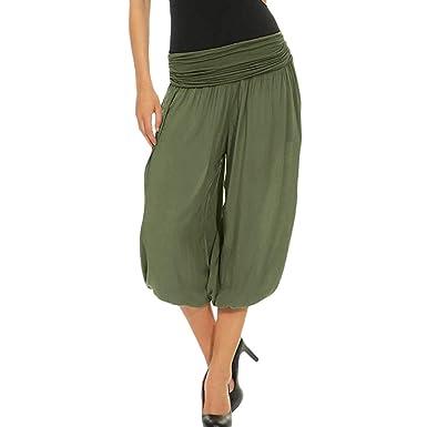 LEvifun Pantalones Mujer Yoga y Pilates Harem Hybrid Capri Long por Ideal para Ejercicios y Baile Yoga Gym Moda Running Workout Mallas elásticos ...