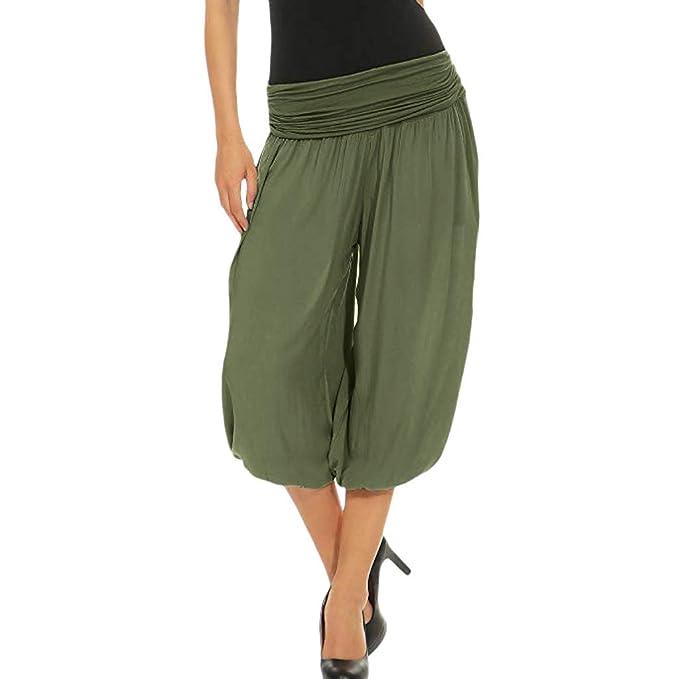 Pantalones de Yoga para Mujer Levifun Talla Grande Mujer Suave Verano Pantalones de Fitness Deportivos Elásticos Pantalón para Danza Yoga Pantalones ...