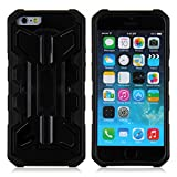 iPhone 6 Case, Eagle Series by Guardiant - [Kickstand Feature] [Black] - Perfect For Netflix, FaceTime, Movies, TV, Video - 4.7 Inch Rugged Dual Layer Armored Case for your Apple Phone - Popular For Men & Guys - Slim Custom Fit - Latest Stylish Design - Protect Your Investment