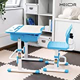 Mecor Kids Desk and Chair Set with Ergonomic Winged Backrest, Children Student Sturdy
