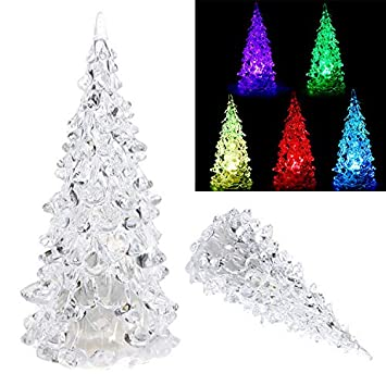 Christmas Home Decor 2019.Pausseo Colorful Fiber Optic Tree Christmas Led Tree 2019 New Year Xmas Gifts Tree