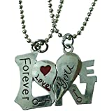 Modish Look Beautiful Forever Love Magnetic Couple Lockets With Chain