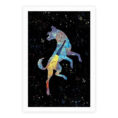 LookHUMAN Astronaut Dog Laika White 17 x 22 Inch Giclee Art Print Poster ()
